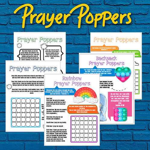 Prayer Popper Printable Handouts