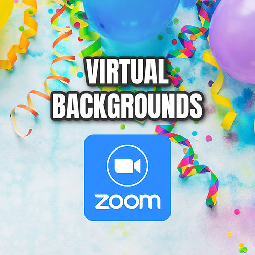 Party Virtual Backgrounds (ZOOM)