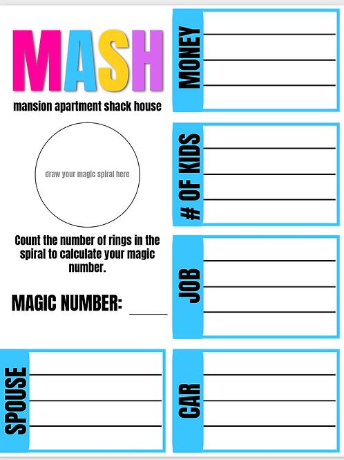 MASH Game Template