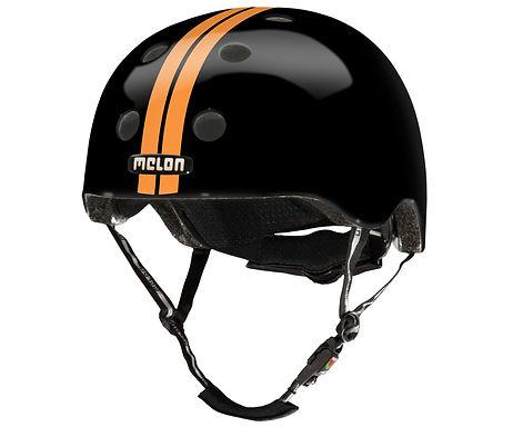 メロンヘルメット ストレートオレンジブラック