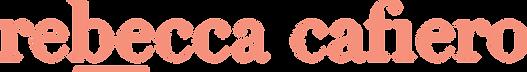 Rebecca Cafiero Main Logo (take it tange