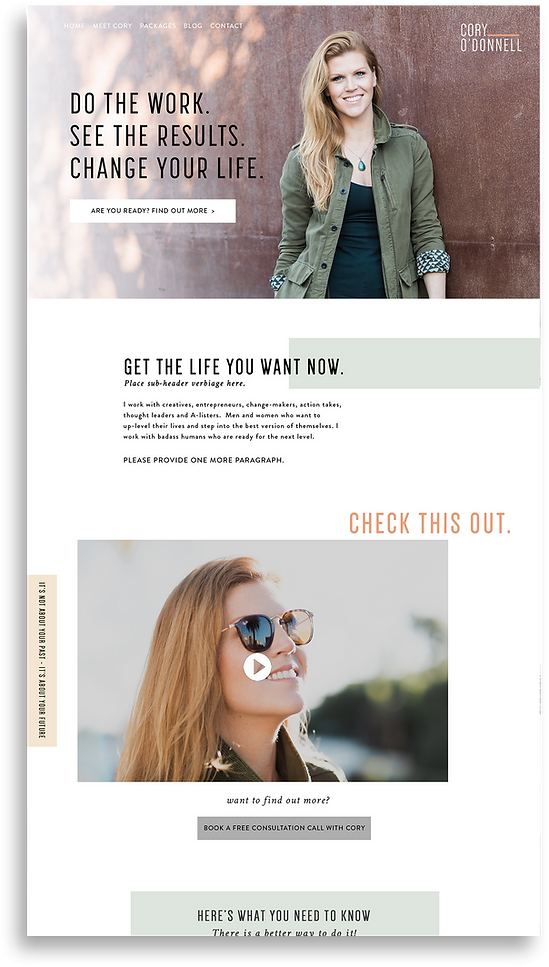 The EmmaRose Agency Web Design Cory O' Donnell