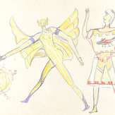 Grafite e lápis cera sobre papel / pencil and wax pencil on paper | 1976 | 36,7 x 55,2 cm (T026358)