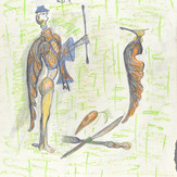 Lápis cera e grafite sobre papel / wax pencil and pencil on paper | 1978 | 55 x 36,9 cm (T026450)