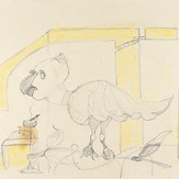 Grafite e lápis cera sobre papel / pencil and wax pencil on paper | 1973 | 36,3 x 55,1 cm (T026373)