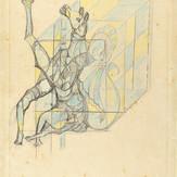 Lápis cera sobre papel / wax pencil on paper | 1974 | 55 x 36,5 cm (T004562)