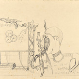 Grafite sobre cartolina / pencil on cardboard | sem data / undated | 36 x 55 cm (T009076)