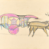 Grafite e lápis cera sobre papel / pencil and wax pencil on paper | 197[?] | 37,3 x 55 cm (T026128)