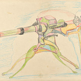 Lápis cera sobre papel / wax pencil on paper | 1972 | 36,5 x 55 cm (T005184)