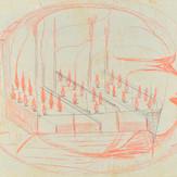 Grafite e lápis cera sobre papel / pencil and wax pencil on paper | 1970 | 32,2 x 47,8 cm (T026119)