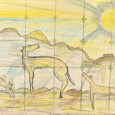 Grafite e lápis de cor sobre papel / pencil and wax pencil on paper | 1976 | 36,5 x 55 cm (T004805)