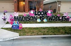 Birthday Yard Sign FORT WORTH