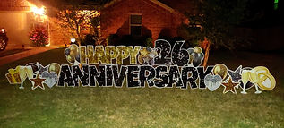 ANNIVERSARY YARD SIGN, LOVE LETTER, YARD SIGN, ANNIVERSARY, LOVE DAY, WEDDING, PROPOSAL PARTY YARDS, DFW, FORT WORTH, MANSFIELD SIGNS, GRAND PRAIRIE SIGNS