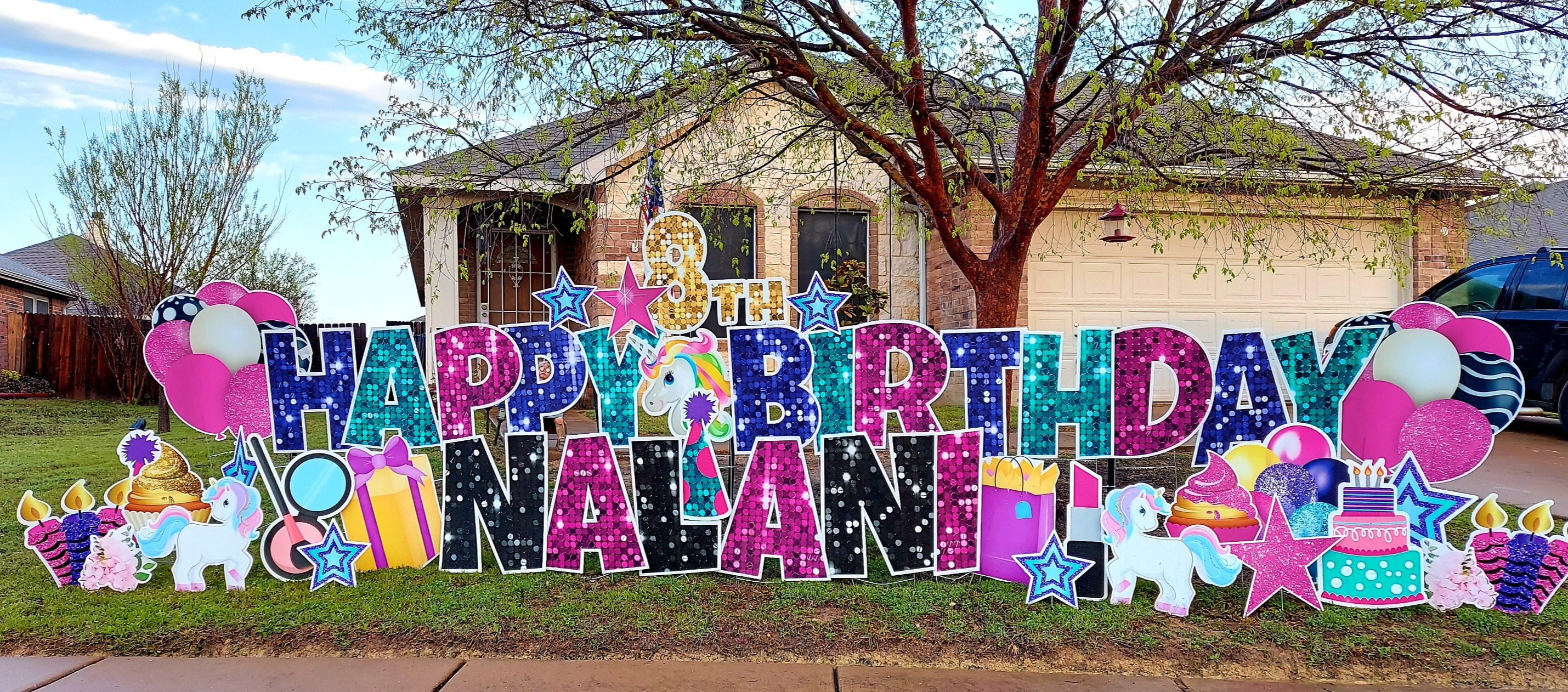 Birthday Yard Sign MANSFIELD
