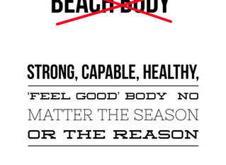 Training for life vs. the beach