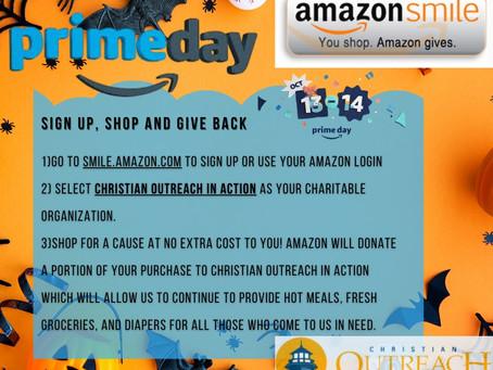 Shop AmazonSmile on PrimeDay & Support COA!