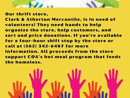 Volunteers Needed at Clark & Atherton!