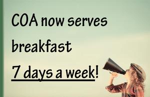 Serving Breakfast 7 Days a Week!