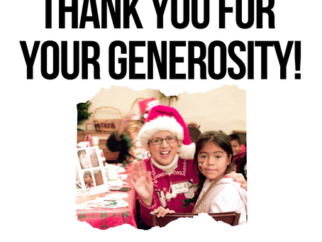Thank You For Your Generosity!