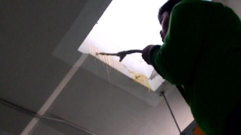 ยิงโฟม pu ซ่อมน้ำรั่ว น้ำซึม