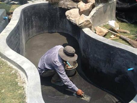 การก่อสร้างและติดตั้งระบบกันซึมบ่อปลา