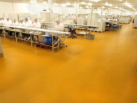 พื้นโพลียูรีเทนคอนกรีต สำหรับใช้ในโรงงานอุตสาหกรรมผลิตอาหาร