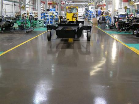 พื้นอีพ็อกซี่กับอุตสาหกรรมโรงงานผลิตรถยนต์และชิ้นส่วนรถยนต์ Epoxy floor & car manufacturer