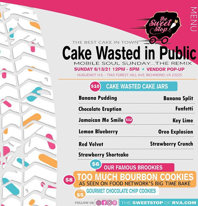 Cake_Wasted_Menu - Mobile Soul Sunday -