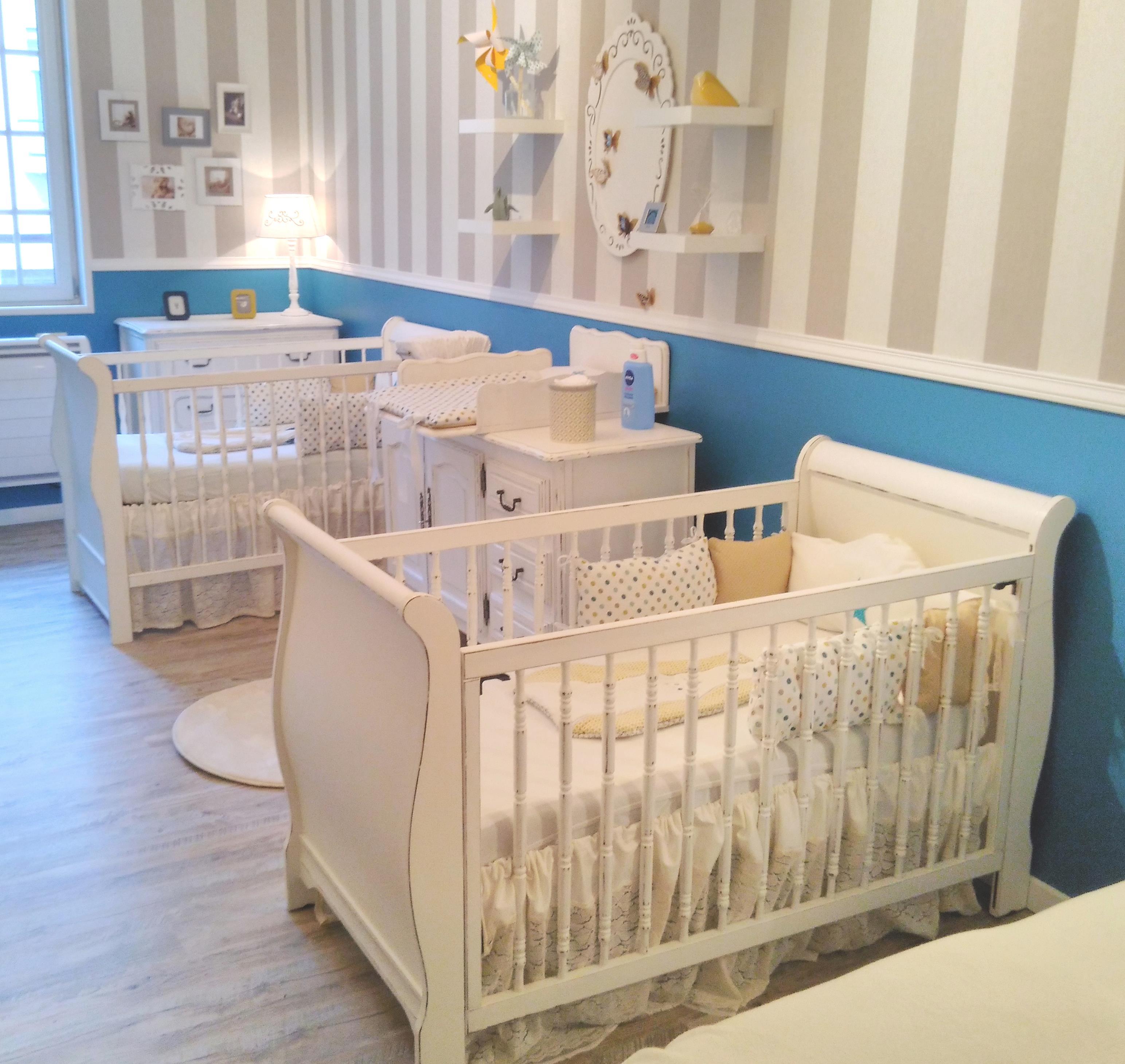 Chambre de bébé romantique jumeaux fait maison