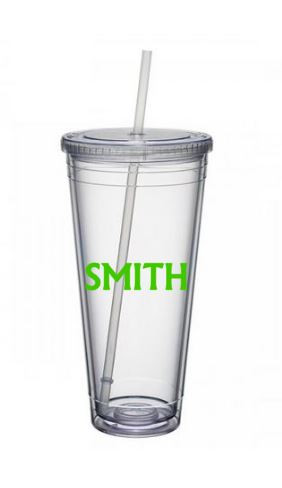 Tumbler with Straw $15