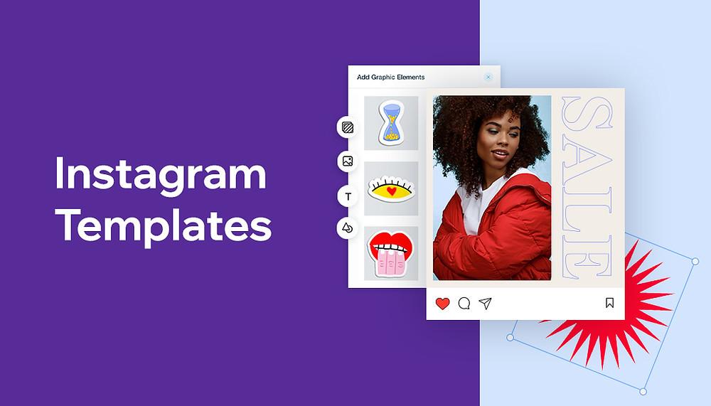 Instagram template examples