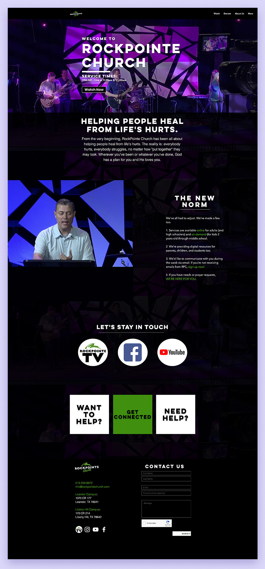 Best church websites example by RockPointe Church