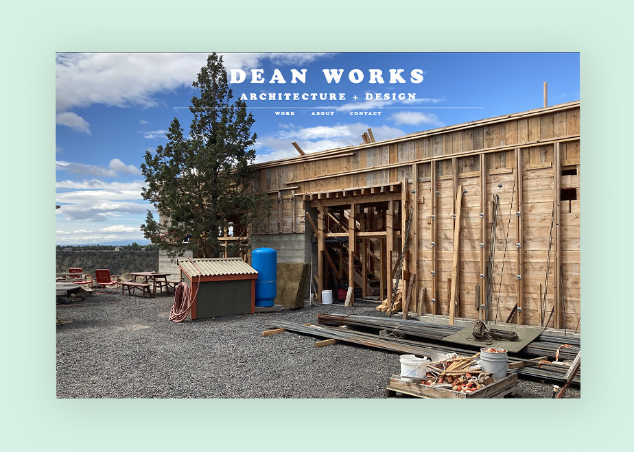 architecture portfolio website example by Brandon Dean