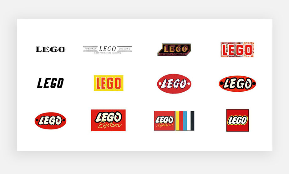Famous logos example by Lego