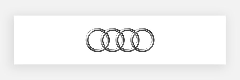 Famous logos example by Audi