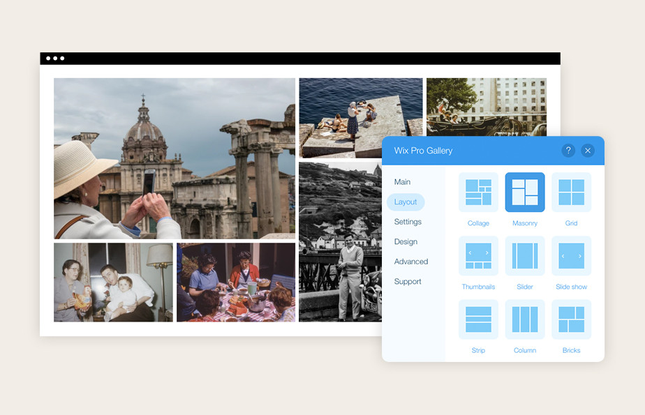 Uploading images to website with the Wix Pro Gallery