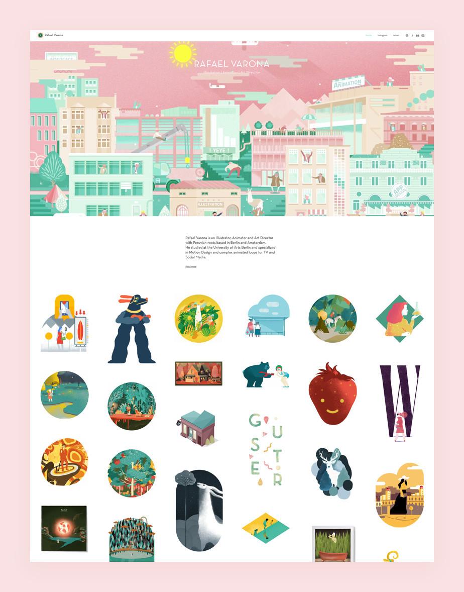 illustrator website example by Rafael Varona