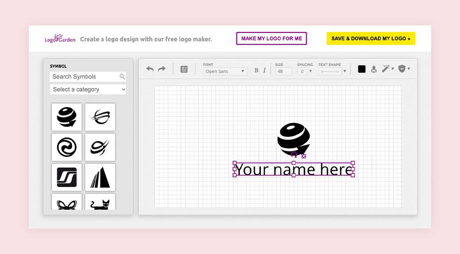 best logo maker example by logo garden