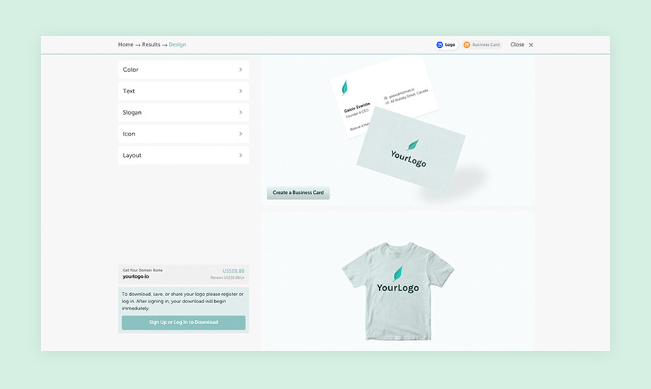 best logo maker example by NameCheap