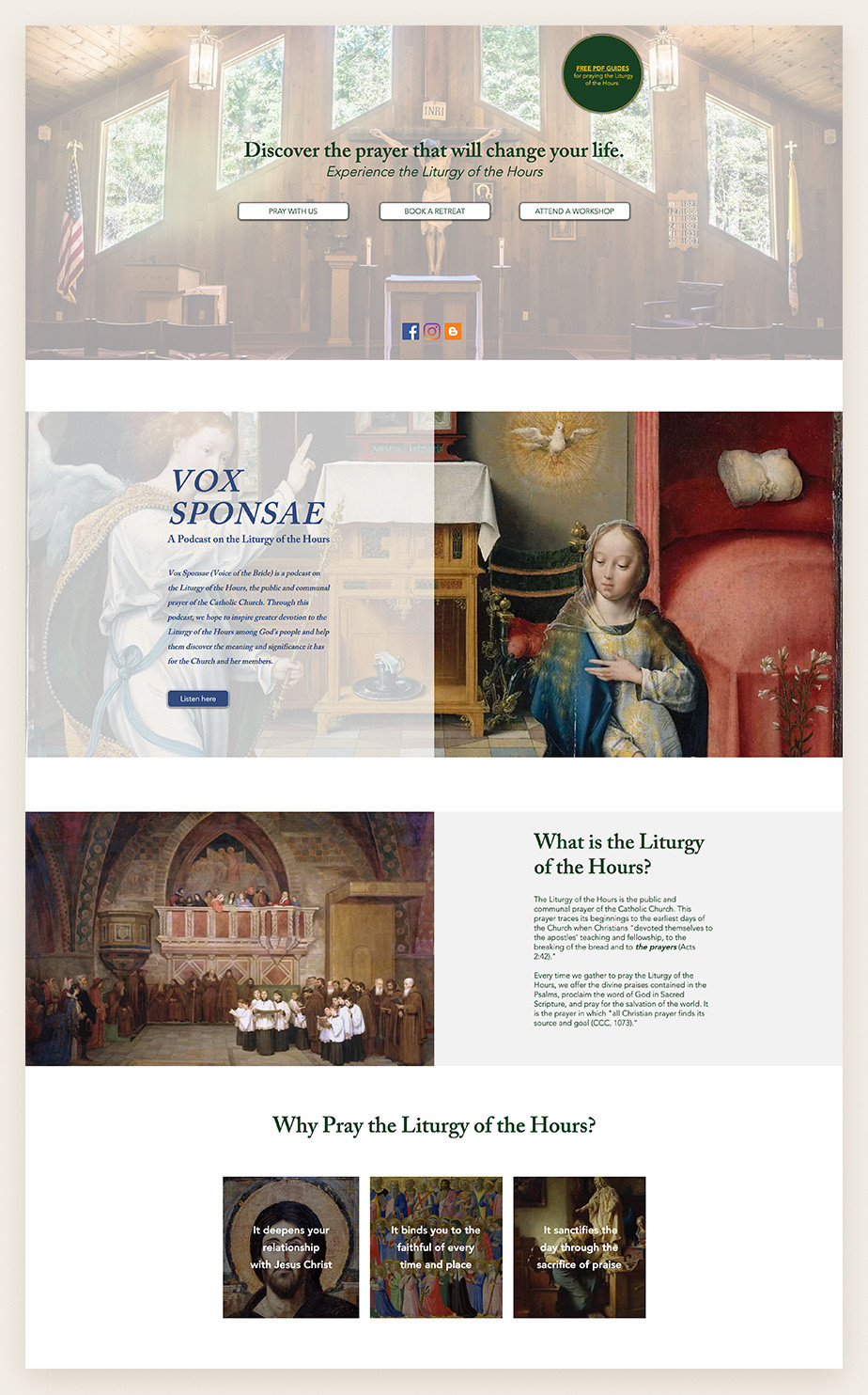 Best church websites example by St. Thomas More House of Prayer Church