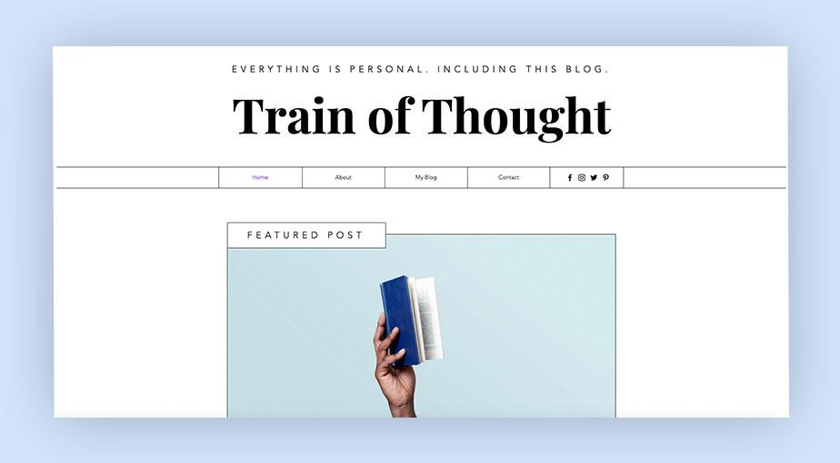 website header design example