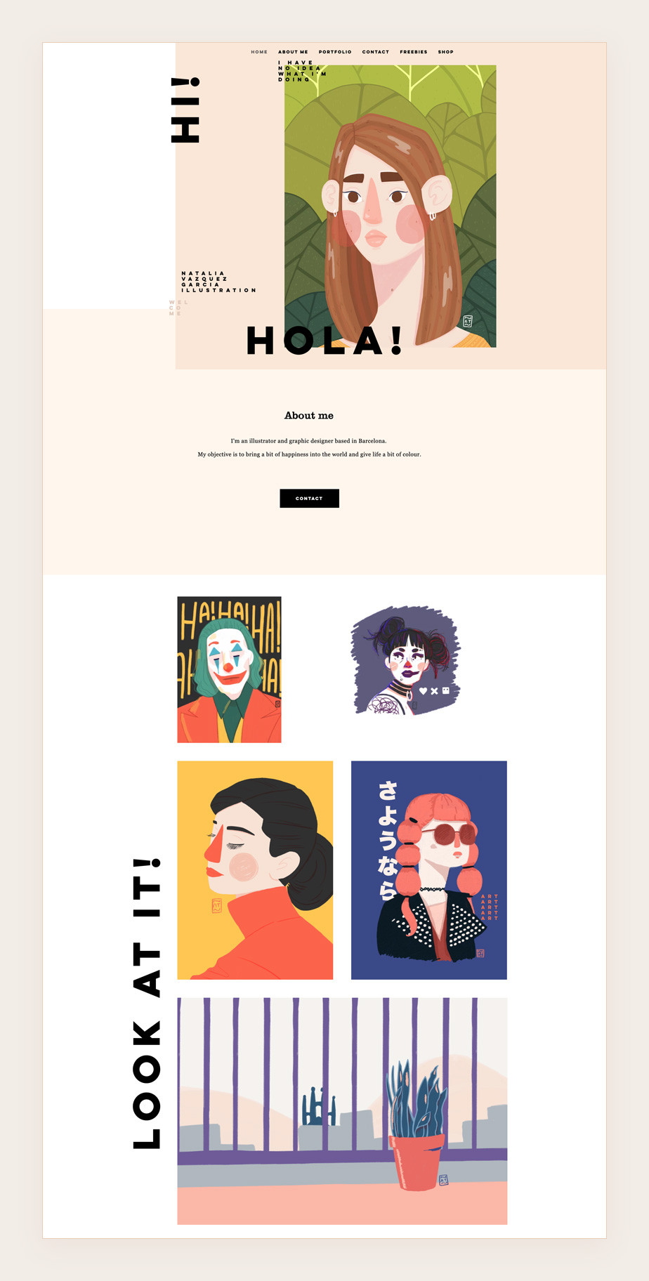 illustration portfolio website by Natalia Vazquez Garcia