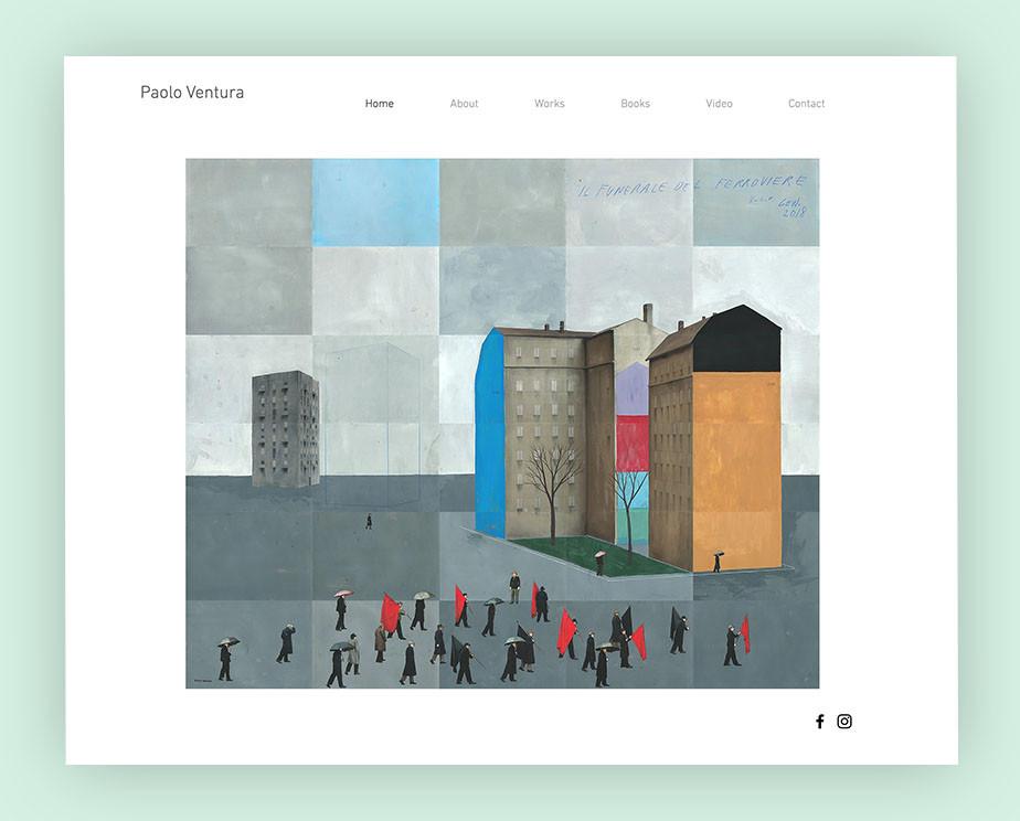 art portfolio website example by Paolo Ventura
