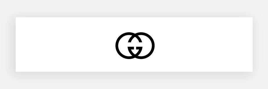 famous logos example by Gucci
