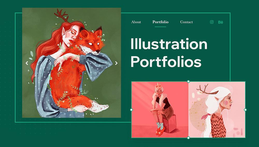 illustration portfolio website