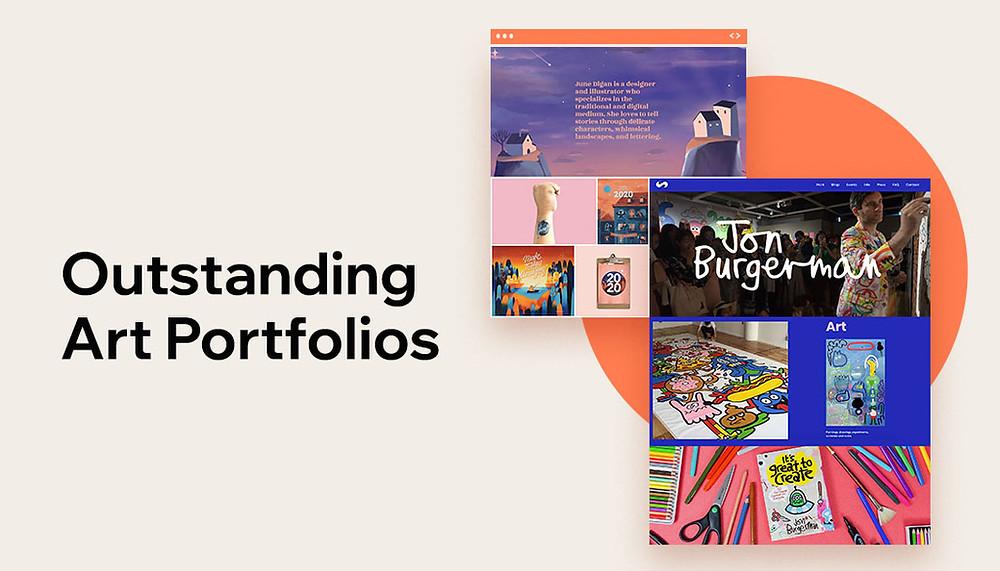 Art portfolio website showcase