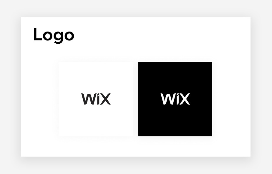 2 images of the Wix logo side by side in black and white