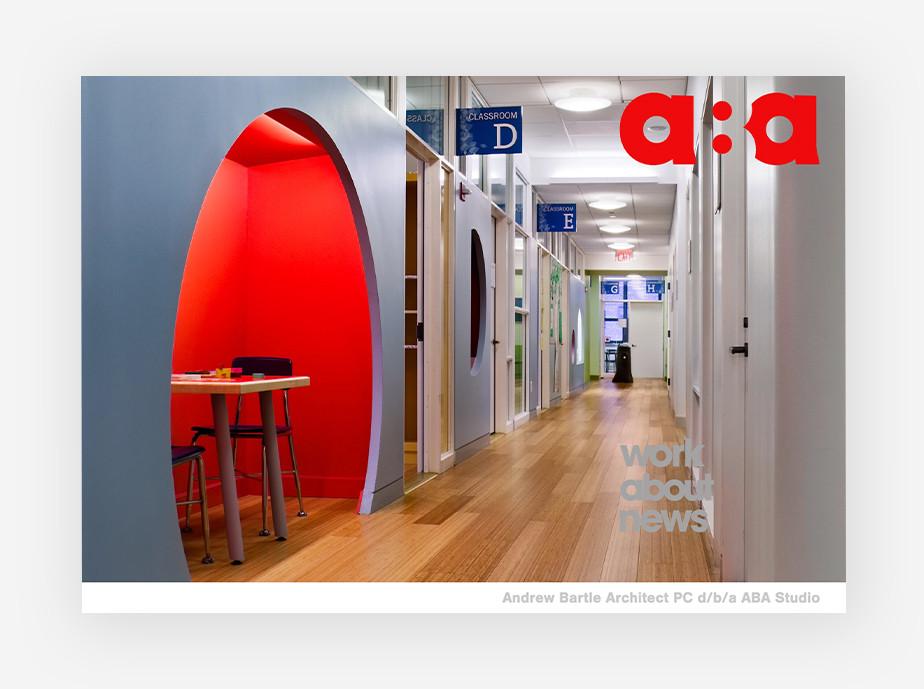 art portfolio website example by Aba Studio