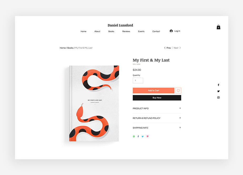 online sotre template with good ux