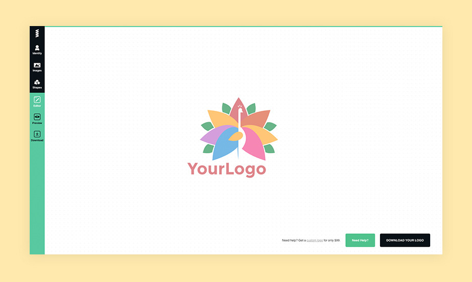 best logo maker example by GraphicSprings